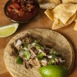 Traditional Pork Tacos — Stock Photo