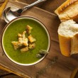 Homemade Green Asparagus Soup — Stock Photo