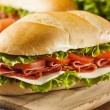 Homemade Italian Sub Sandwich — Stock Photo