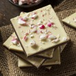 Homemade Christmas Peppermint Bark Dessert — Stock Photo