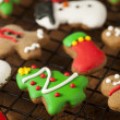 Traditional Iced Gingerbread Christmas Cookies — Stock Photo #37189939