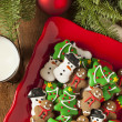 Traditional Iced Gingerbread Christmas Cookies — Stock Photo #37190193