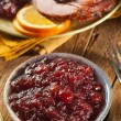 Foto Stock: Red Homemade Cranberry Sauce