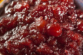 Red Homemade Cranberry Sauce — Стоковое фото
