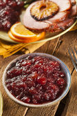 Red Homemade Cranberry Sauce — 图库照片