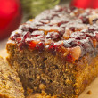 Festive Homemade Holiday Fruitcake — Stock Photo #37450791