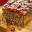 Festive Homemade Holiday Fruitcake — Stock Photo #37450843