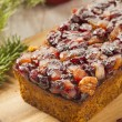 Festive Homemade Holiday Fruitcake — Stock Photo