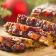 Stock Photo: Festive Homemade Holiday Fruitcake
