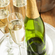 Stock Photo: Bubbling Champagne in Glass
