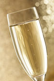 Bubbling Champagne in a Glass — Stock Photo