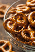Organic Brown Mini Pretzels with Salt — Stock Photo