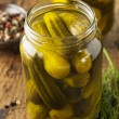 Homemade Organic Crunch Green Pickles — Stock Photo #38488907