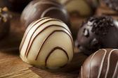 Gourmet Fancy Dark Chocolate Truffle Candy — Stock Photo