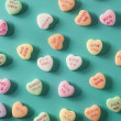 Candy Conversation Hearts for Valentine's Day — Stock Photo #38789807