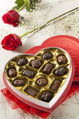 Box of Gourmet Chocolates for Valentine's Day — Stock Photo