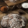 Chocolate Crinkle Cookies with Powdered Sugar — Stock Photo #38919055