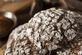 Chocolate Crinkle Cookies with Powdered Sugar — Stock Photo