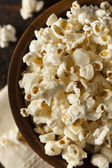 Healthy Buttered Popcorn with Salt — Stock Photo