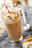 Fancy Iced Coffee with Cream — Stock Photo