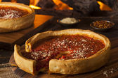 Chicago Style Deep Dish Cheese Pizza — Stock Photo
