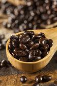 Organic Dark Coffee Beans — Stock Photo
