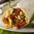 Stock Photo: Hearty Chorizo Breakfast Burrito