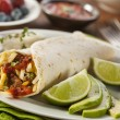 Hearty Chorizo Breakfast Burrito — Stock Photo #39787953