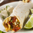 Hearty Chorizo Breakfast Burrito — Stock Photo #39788057