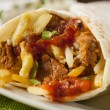 Hearty Chorizo Breakfast Burrito — Stock Photo #39788093