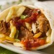 Hearty Chorizo Breakfast Burrito — Stock Photo #39788093