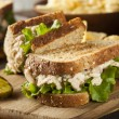 Healthy Tuna Sandwich with Lettuce — Stock Photo #39793513