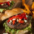 Healthy Vegetarian Portobello Mushroom Burger — Stock Photo