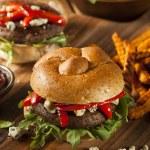 Healthy Vegetarian Portobello Mushroom Burger — Stock Photo