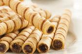 Gourmet Chocolate Hazelnut Pirouline — Stock Photo