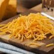 Organic Shredded Sharp Cheddar Cheese — Stock Photo #40435135