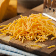 Stock Photo: Organic Shredded Sharp Cheddar Cheese