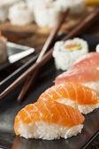 Healthy Japanese Nigiri Sushi — Stock Photo