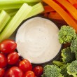 Stock Photo: Organic Raw Vegetables with Ranch Dip