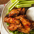 Barbecue Buffalo Chicken Wings — Stock Photo #41141385