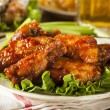Barbecue Buffalo Chicken Wings — Stock Photo #41141441