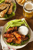 Barbecue Buffalo Chicken Wings — Stock Photo