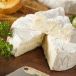 Organic Homemade White Brie Cheese — Stock Photo