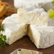 Organic Homemade White Brie Cheese — Stock Photo #41267191