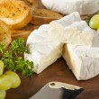 Organic Homemade White Brie Cheese — Stock Photo #41267243