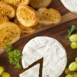 Organic Homemade White Brie Cheese — Stock Photo #41267281