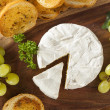 Stock Photo: Organic Homemade White Brie Cheese