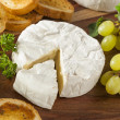 Organic Homemade White Brie Cheese — Stock Photo #41267349