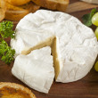 Organic Homemade White Brie Cheese — Stock Photo #41267359