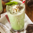 Stock Photo: Cold Refreshing Mint Chocolate Chip MilkShake